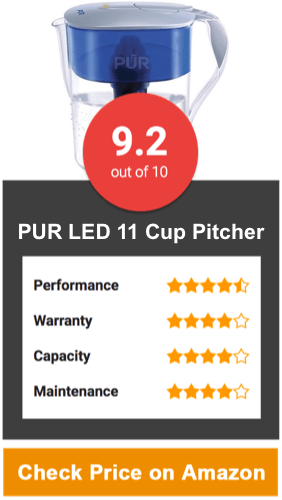 PUR LED 11 Cup Water Filter Pitcher