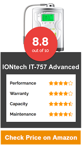IONtech IT-757 Advanced Alkaline Water Ionizer Machine