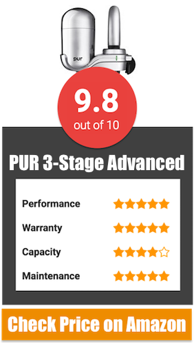 PUR 3 Stage Advanced Faucet Water Filter