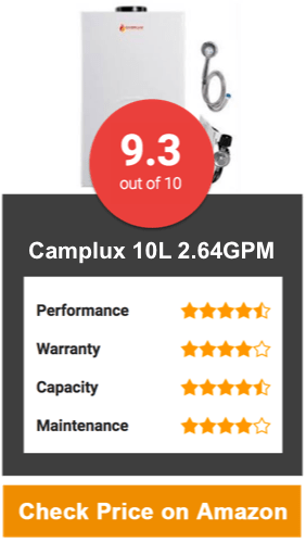 Camplux 10L 2.64GPM Digital Display