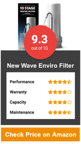 New Wave Enviro Filter Countertop Water Filter