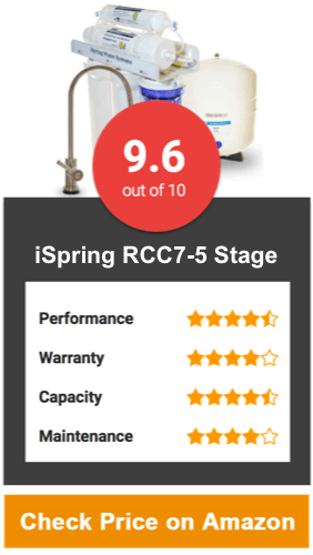 iSpring RCC7-5 Stage Reverse Osmosis Water Filter
