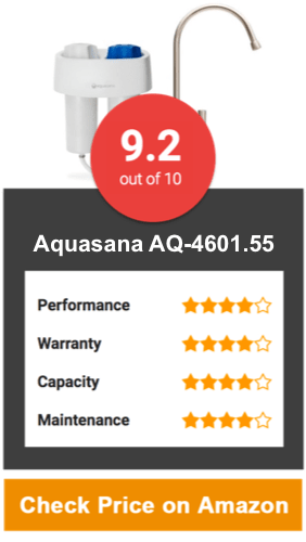 Aquasana AQ-4601.55 Premium Under Counter Water Filter