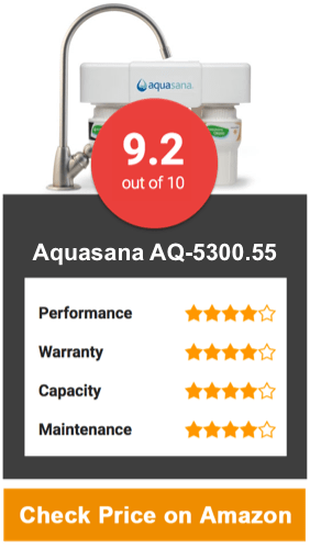 Aquasana AQ-5300.55 Under Counter Water Filter