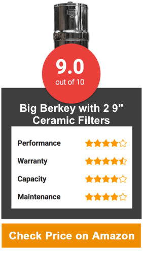Big Berkey Water Filter System With 2 9 Ceramic Filters