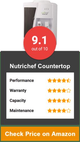 Nutrichef Countertop Water Cooler Dispenser
