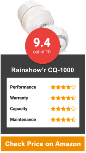 Rainshow'r CQ-1000-MS Shower Filter with Massaging Showerhead