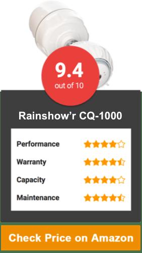 Rainshow'r CQ-1000-MS Shower Filter with Massaging Showerhead