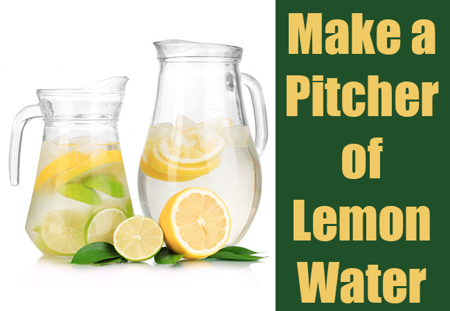 how to make a pitcher of lemon water easy steps