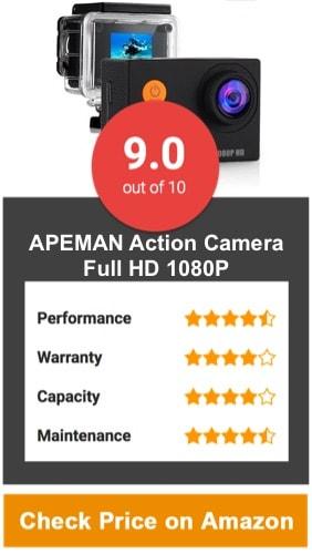 APEMAN Action Camera, 12 MP Full HD 1080P