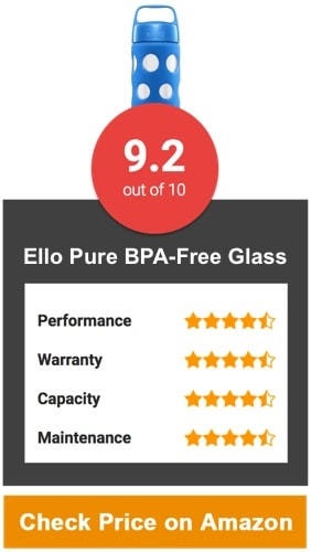 Ello Pure BPA-Free Glass Water Bottle