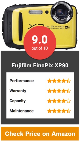 Fujifilm FinePix XP90 Water Proof Camera