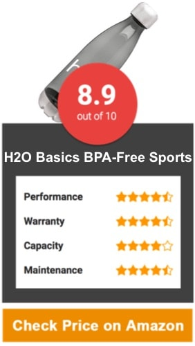 H2O Basics BPA-Free Sports Water Bottles