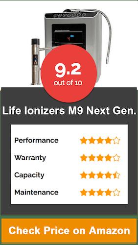 Life Ionizers M9 Next Gen. Countertop Water Ionizer
