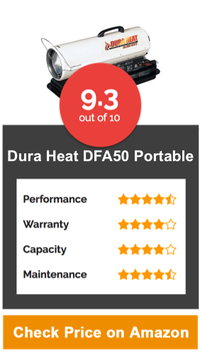 Dura Heat, DFA50 Portable Kerosene Forced Air Heater