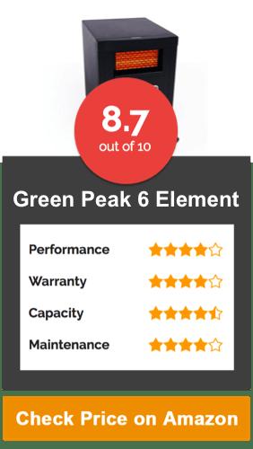 Green Peak 6 Element Large Room Heater