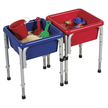 ECR4Kids 2 Station Sq Sand & Water Play Table