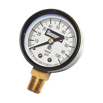 Simmons 100PSI Pressure Gauge