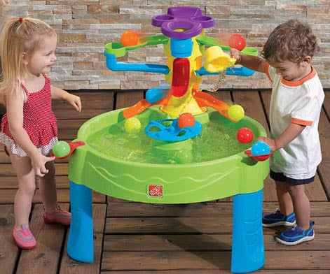 DIY Outdoor Water Table with Pump