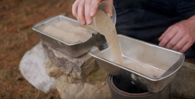 Step-2: Pour Some Sand